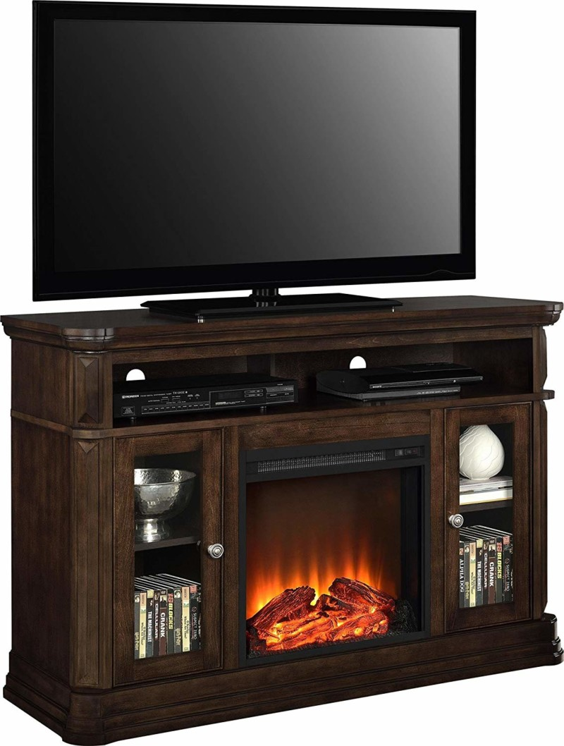 Ameriwood Home Brooklyn Electric Fireplace TV Console for TVs up to 50""