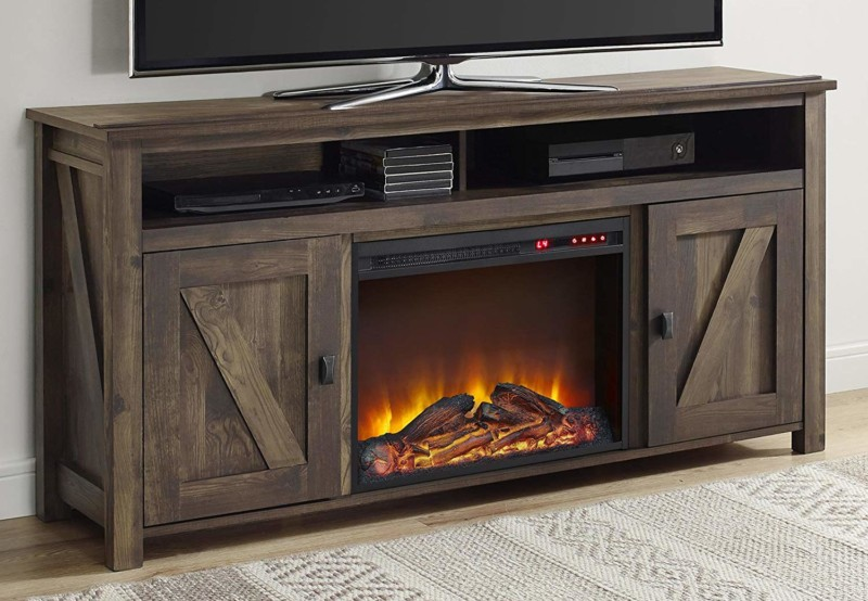 Ameriwood Home Farmington Electric Fireplace TV Console for TVs