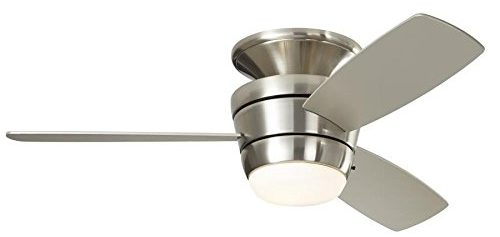 Harbor Breeze Mazon 44-in Brushed Nickel Flush Mount Indoor
