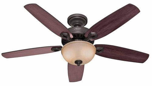 Fan with light and pull chain control