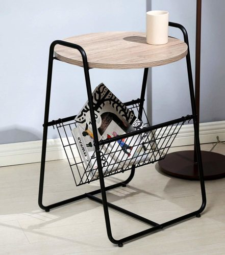 Salafey Modern Round Sofa Side Table
