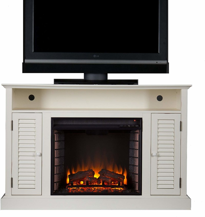 Southern Enterprises Antebellum Media Electric Fireplace TV Stand