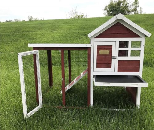 1.Advantek Stilt House Rabbit Hutch Farmhouse Red