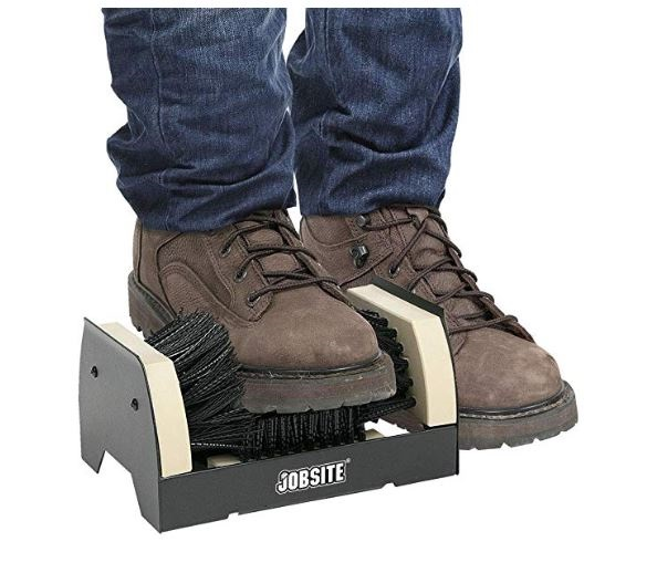 1.JobSite The Original Boot Scrubber - All Weather Industrial Shoe Cleaner & Scraper Brush