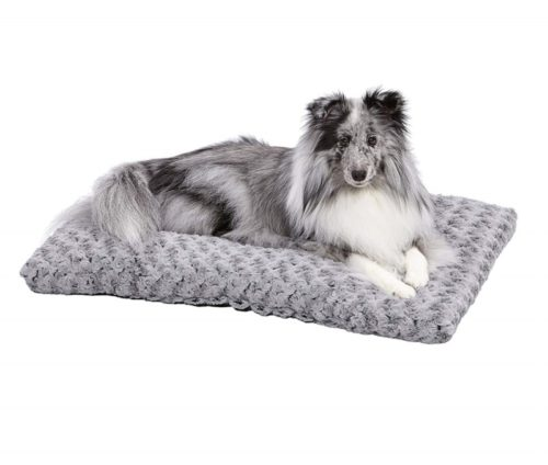1.MidWest Homes for Pets Deluxe Pet Beds Super Plush Dog & Cat Beds Ideal for Dog Crates Machine Wash
