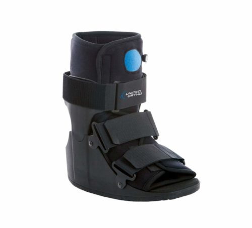 1.United Ortho Short Air Cam Walker Fracture Boot, Medium, Black
