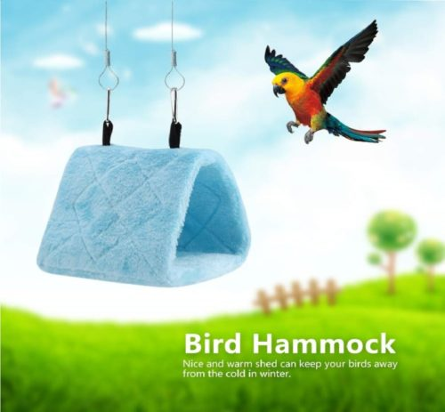 10.Peony Parrot Hammock Bird Nest Warm Soft Plush Hammock Hanging Cage Tent for Birds Parrot Winter Warm Bed Pet Toy Pouch Cotton Bed