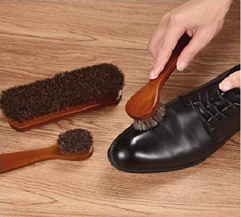 10.Polish Shoe Brush Kit Natural Horsehair Bristles Polishing Shine Applicators Clean Daubers Shoe Care Set for Leather Cleaning Shoes Boot and More