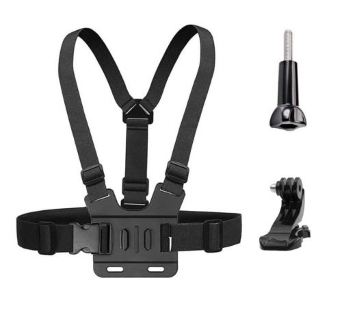 11.Chest Mount Harness Strap for Gopro Hero 6 5 4 3 3+ Session Black+Aluminum Thumbscrew +J-Hook- Fully Adjustable Strap Size -