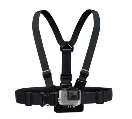 12.GOHIGH Chest Mount Harness Camera Vest Strap with 3 Way Adjustment Base for GoPro Black Session Fussion, AKASO, Campark, DJI OSMO Action, YI 4K