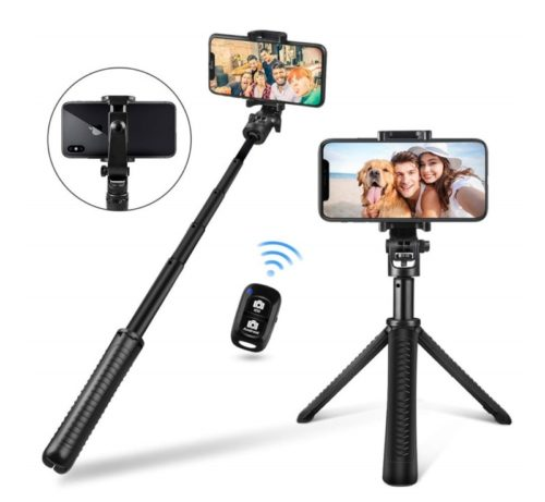 12.UBeesize Selfie Stick Tripod, Extendable and Portable Monopod with Wireless Remote Shutter, GoPro Adapter, Compatible with iPhone and Android Phone, Lightweight Camera,