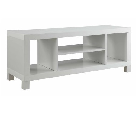 13.Cross Mill TV Stand (White)