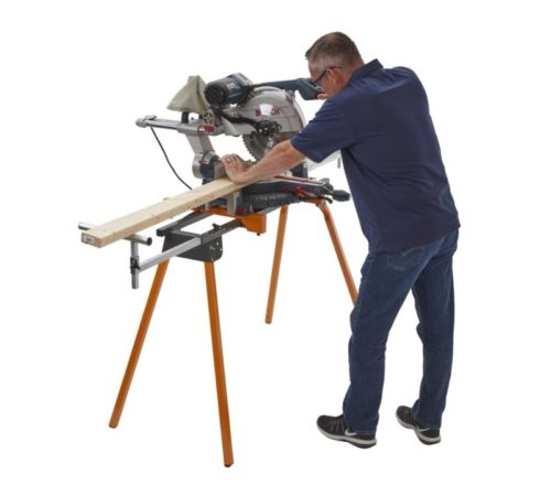 2.BORA Portamate PM-4000 - Heavy Duty Folding Miter Saw Stand with Quick Attach Tool Mounting Bars