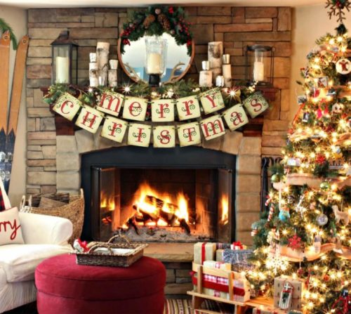 2.ORIENTAL CHERRY Merry Christmas Banner - Vintage Xmas Decorations Indoor for Home Office Party Fireplace Mantle