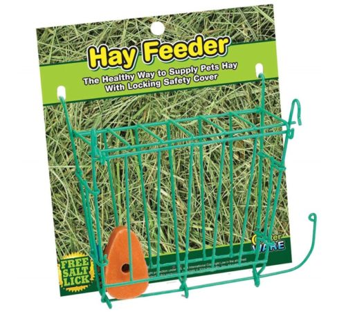 2.Ware Manufacturing Hay Feeder with Salt Lick for Small Pets