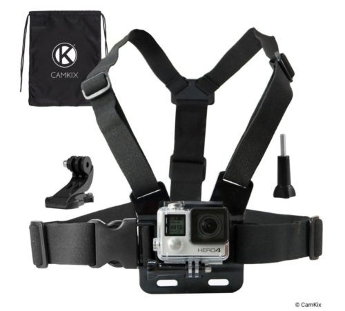 3.CamKix Chest Mount Harness Compatible with Gopro Hero 8 Black, 7, 6, 5, Black, Session, Hero 4, Session, Black, Silver, Hero+ LCD, 3+, 3,