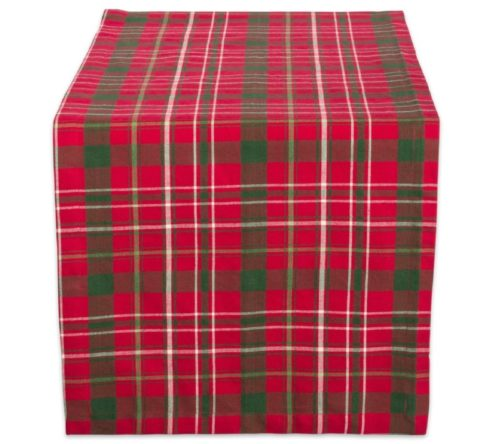 3.DII Tartan Holy Plaid 100% Cotton Table Runner, Machine Washable for Holiday Gatherings, Dinner Parties, & Christmas (