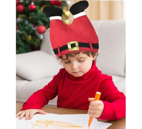 3.DomeStar Christmas Hat, Funny Hat Novelty Santa Hat Crazy Hats Santa Pants Hat