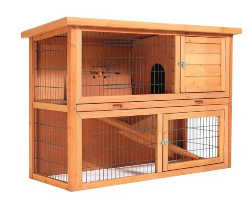 3.SmithBuilt 48 Rabbit Hutch - Two Story Wood Bunny Cage