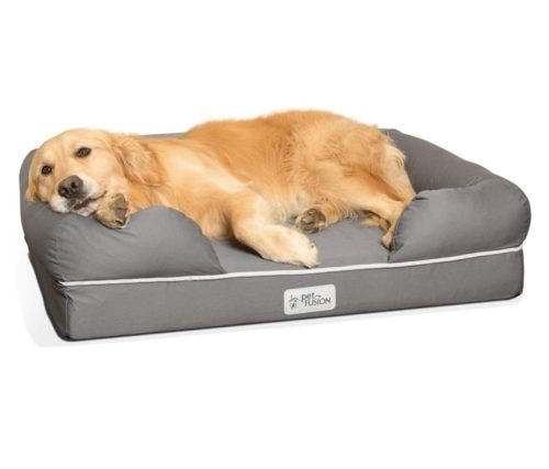 4.PetFusion Ultimate Dog Bed, orthopedic Memory Foam. (Multiple Sizes Colors, medium firmness, Waterproof liner, YKK zippers