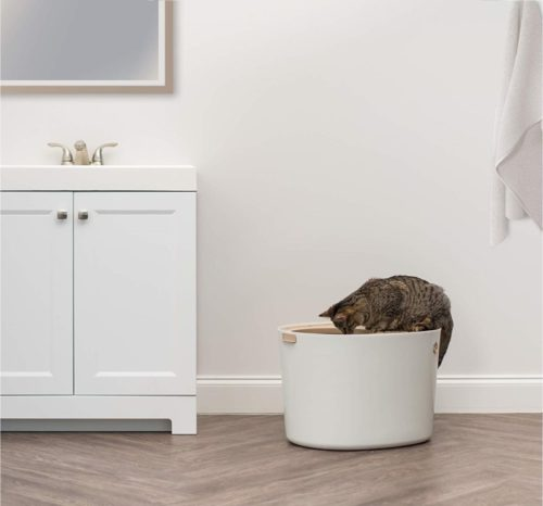 5.IRIS Top Entry Cat Litter Box with Cat Litter Scoop