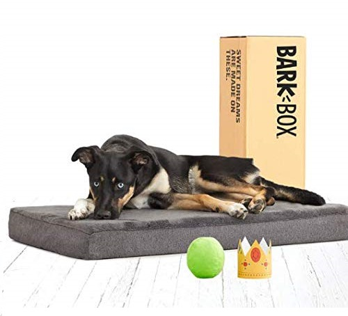 6.BarkBox Memory Foam Dog Bed Multiple Sizes Colors Plush Orthopedic Joint-Relief, Machine Washable Cover