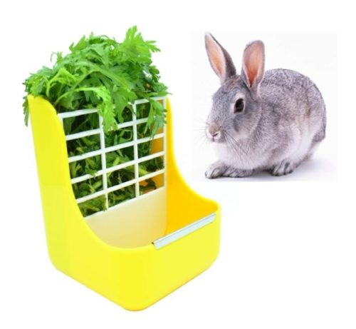 6.sxbest 2 in 1 Food Hay Feeder for Guinea Pig,Rabbit,Indoor Hay Feeder for Guinea Pig,Rabbit, Chinchilla,Feeder Bowls Use for Grass & Food
