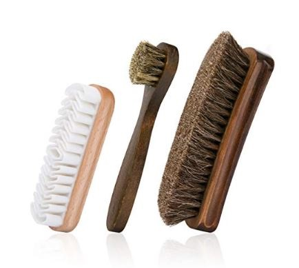 7.Foloda Shoe Brush with Horsehair Bristles,Dauber Suede Brush for Leather, Boot
