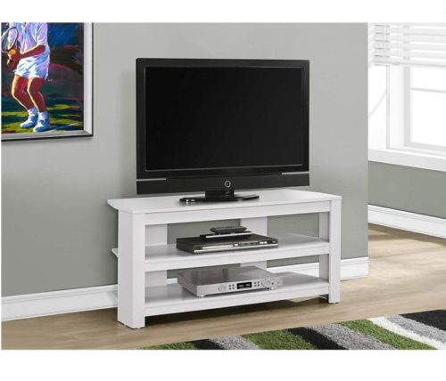 7.Monarch TV Stand, 42, White
