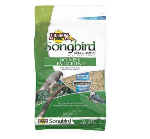 7.Songbird Selections 11986 No-Mess Patio Blend Wild Bird Food, 11-Pound