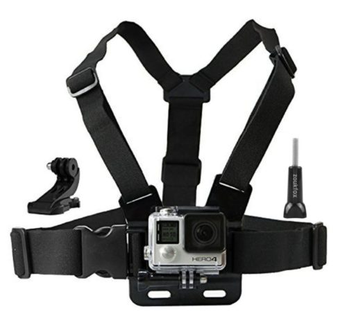 7.Zoukfox Adjustable Chest Mount Harness Mount + Quick Clip Compatible fit for GoPro HERO5 Black, HERO5 Session, HERO4 Black