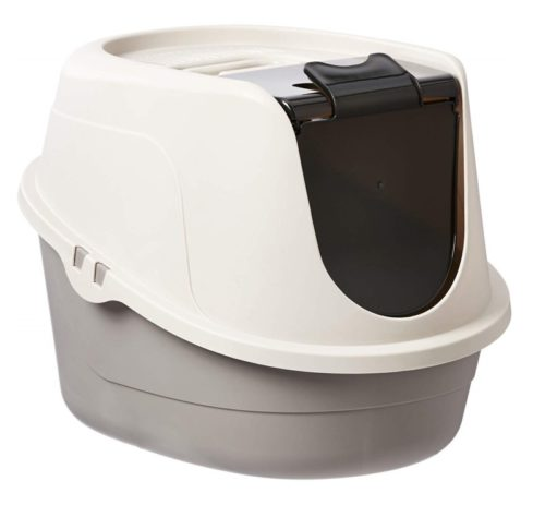 8.AmazonBasics Hooded Cat Litter Box