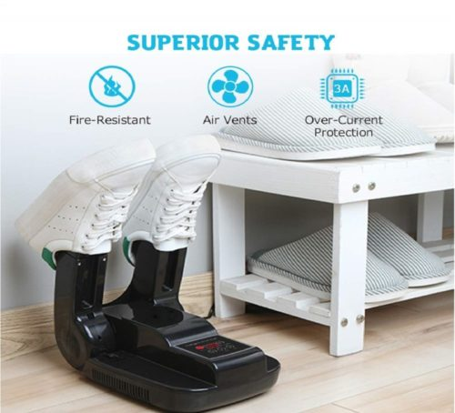 8.Dr. Prepare Boot Dryer Shoe Dryer, Glove Dryer & Boot Warmer with Heat Blower, Portable Adjustable Rack and Timer, Folding