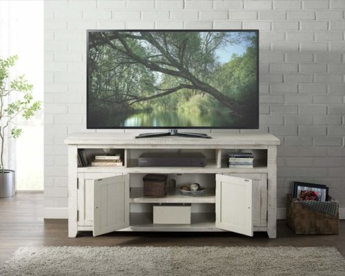 8.Martin Svensson Home Nantucket 65 TV Stand Antique White