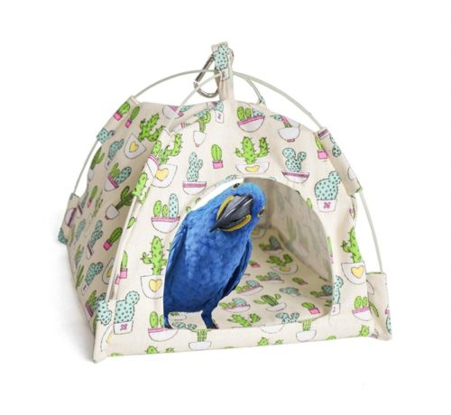 8.Mydays Snuggle Bird Hammock, Parrot Bed, Hanging Toy, Habitat Cave, Happy Hut, Parrot Cage Bird Perch Stand