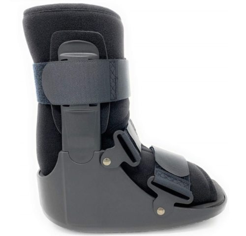 8.Superior Braces Low Top, Non-Air, Low Profile Medical Orthopedic Walker Boot for Ankle & Foot Injuries, Black (Large)