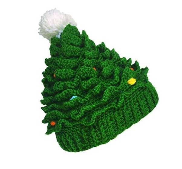 9.Kafeimali Unisex Christmas Winter Knitted Crochet Beanie Santa Hat Bearded Caps