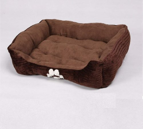 9.Long Rich Reversible Rectangle Pet Bed Dog Bed with Dog Paw Embroidery,Medium size