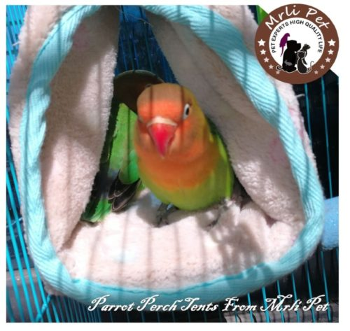 9.Parrot Perch Tents, Mrlipet Winter Warm Bird Nest House Plush Hammock Hanging Cave Happy Hut Hideaway for Macaw African Grey Amazon Eclectu Parakeet