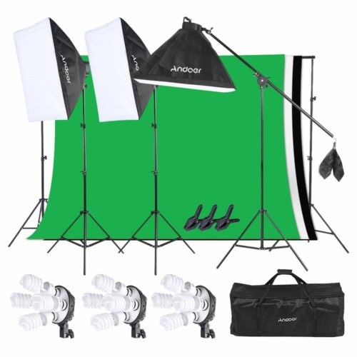 Andoer Lighting Kit, Photography Studio Softbox Light Kit