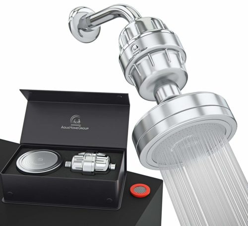 AquaHomeGroup Luxury Filtered Shower Head Set 15 Stage