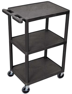 3 Shelves Structural Foam Plastic Storage Utility Cart