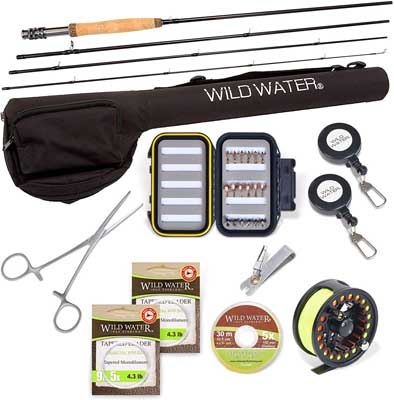 3. Fly Fishing Rod and Reel Combo by Wild Water