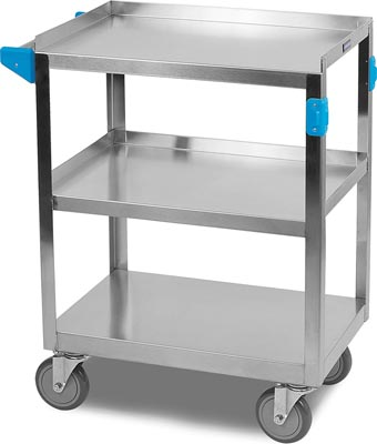 3 Shelf Stainless Steel Utility Cart by Carlisle