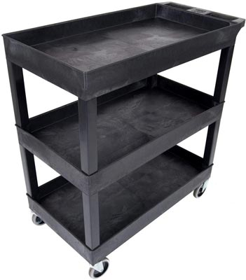 Tub Storage Cart 3 Shelves by Luxor