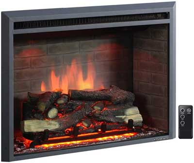 1. PuraFlame Western Electric Fireplace Insert