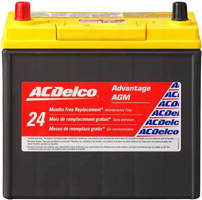 4. Automotive BCI Group 51 Battery by ACDelco