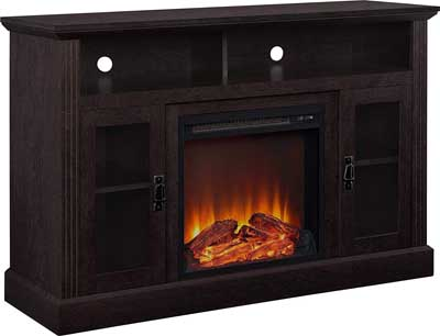 4. Ameriwood Home Chicago Electric Fireplace TV Stand