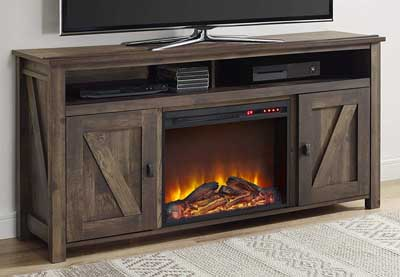 10. Ameriwood Home Farmington Electric Fireplace TV Stand