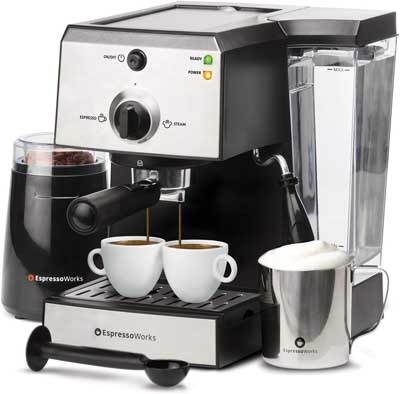 5. All-In-One Espresso Machine and Cappuccino Maker by EspressoWorks